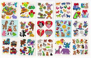 Vintage-Sandylion-Animals-Stickers-Glitter-Prism-Kromekote-You-Choose