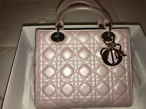 3776286b37cf Image is loading New-Authentic-Medium-Lady-Dior-Bag-in-Rose-