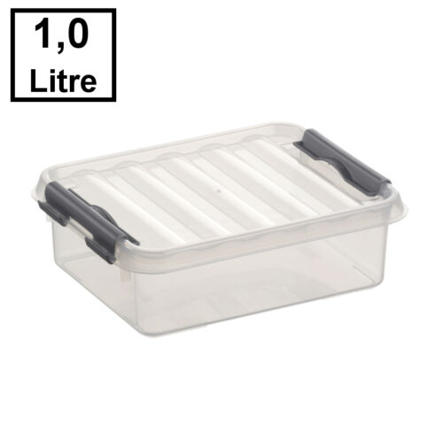 transparent//grau 1 Liter 6 x SUNWARE Q-Line Box 200 x 150 x 60 mm