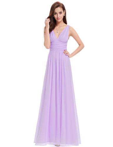 US Ever-Pretty Long Chiffon Bridesmaid Dress Maxi Evening Prom Dresses 09016