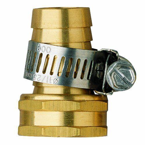 "Fix Hoses Orbit Female end Zinc 1//2/"" Garden Hose Repair Mender w// Clamp"