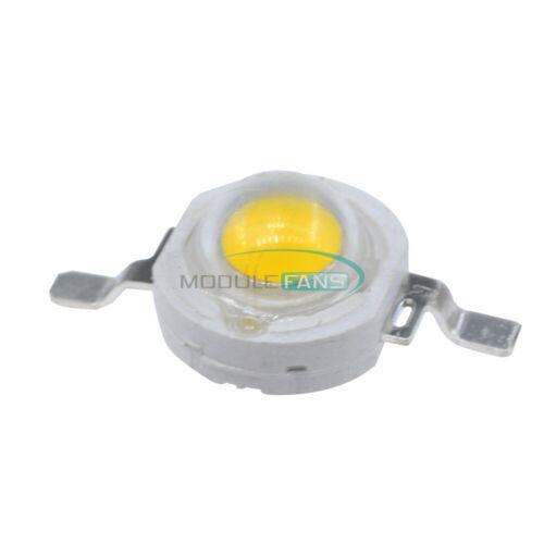 100PCS 1 W Blanco Cálido SMD LED Cuentas Nuevo 100-110 LM US