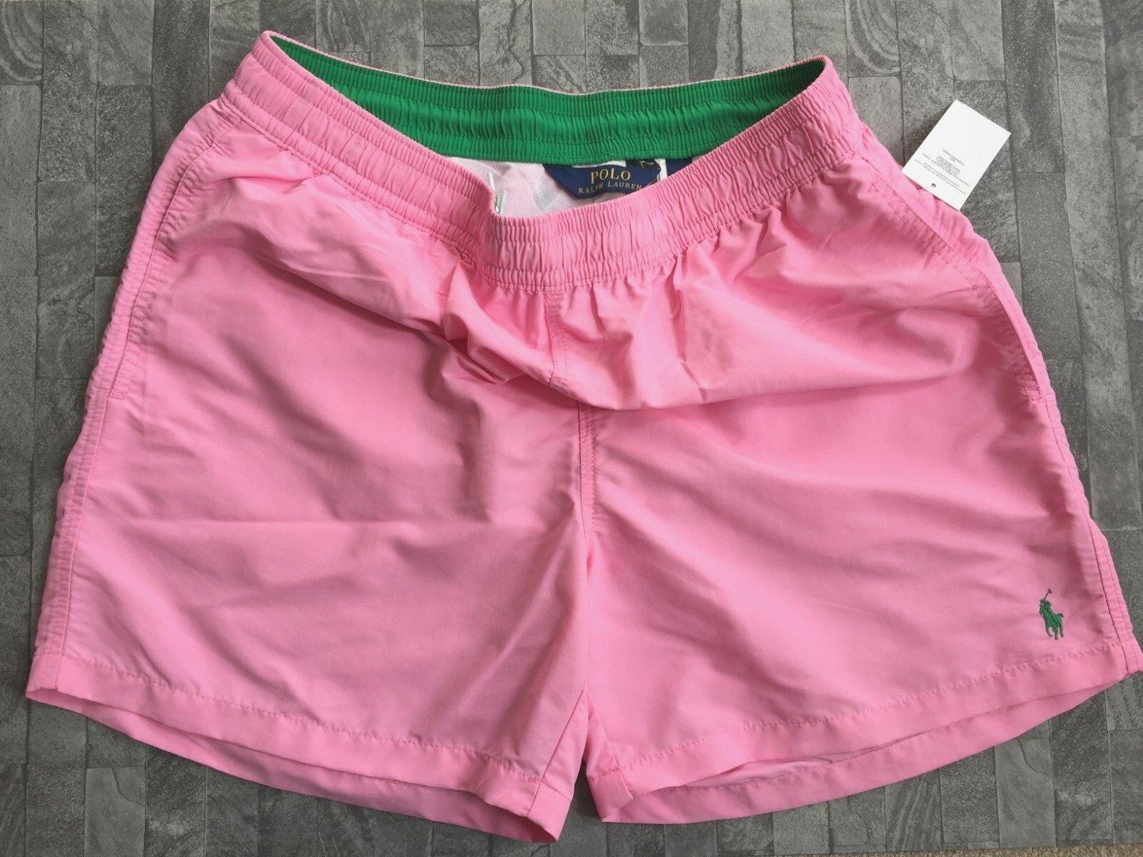 Polo Ralph Lauren pink Pâle Hawaïen Short Natation size XL 86,4 Cm-91,4 CM