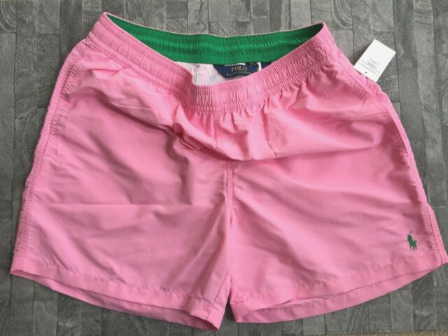 2d5b7b9103 POLO RALPH LAUREN PALE PINK HAWAIIAN SWIM SHORTS SIZE XL 34