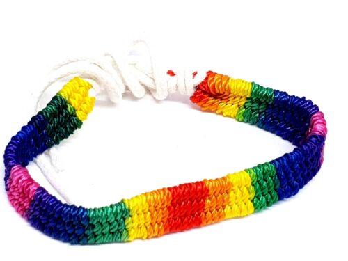 Gay Pride Regenbogen Makramee Mehrfarbig Lgbt Freundschaftsarmband Qualität UK