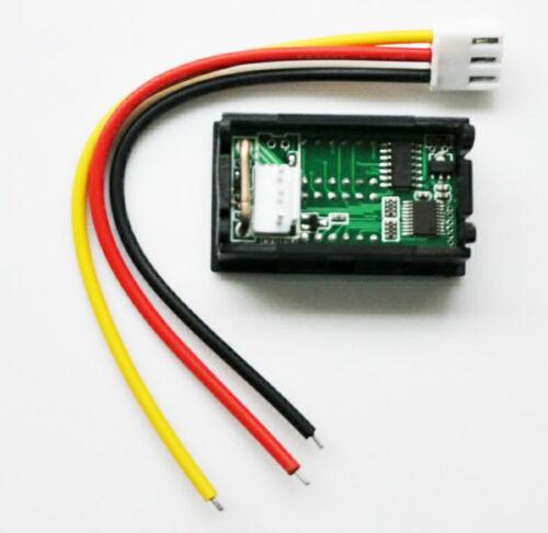 DC 4-30V 0-5A Voltmeter Ammeter Blue+Red LED Panel Amp Digital Volt Gauge