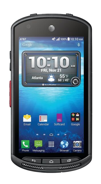 Kyocera DuraForce  E-6560  4G 16GB - Black (AT&T Unlocked) With a Light Burn LCD