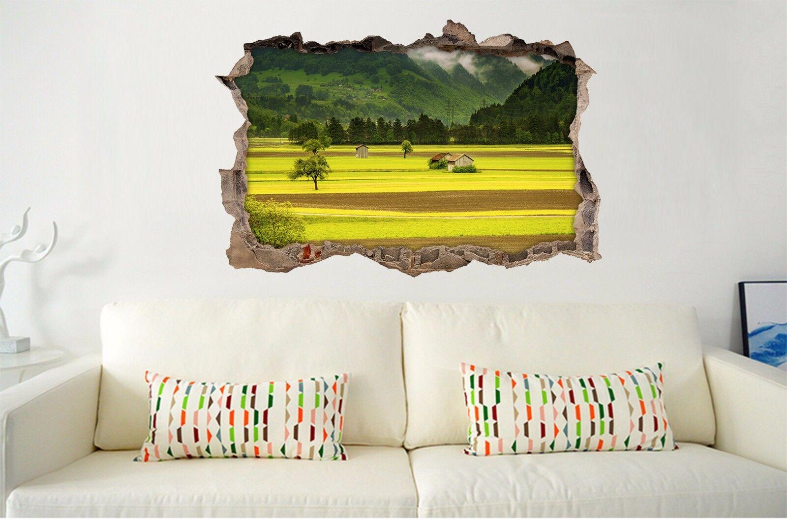 3D Golden  Feld 773 Mauer Murals Mauer Aufklebe Decal Durchbruch AJ WALLPAPER DE
