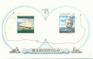 STAMPS-5x-Australia-Canada-1999-Joint-Issue-Marcopolo-World-Expo-Ship-Sheet-Lot