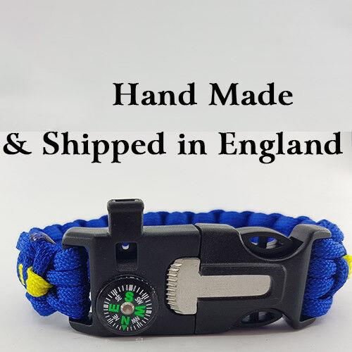 Kings Troop RHA Badged Survival Bracelet Tactical Edge.