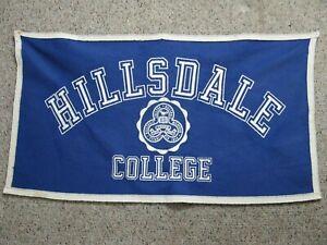 Hillsdale-College-Felt-Banner-33-034-x-18-25-034-Michigan-Vintage-RARE