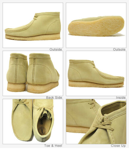 8 Suede Originals para 3 7 6 Uk Boots 4 X Clarks D 5 Wallabee Maple mujer naS60SWRH