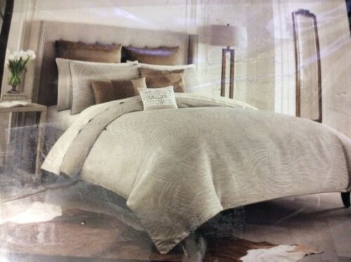 Catherine Malandrino Locks Tan Duvet Cover