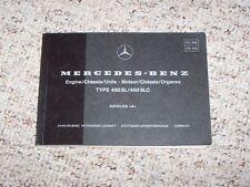 1973 Mercedes Benz 450SL 450SLC 450 SL SLC Engine Chassis Parts Catalog Manual