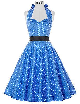 3XL Vintage 50er Jahre Polka Dot Kleid Petticoat Hausfrau Gothic Pin Up Dress