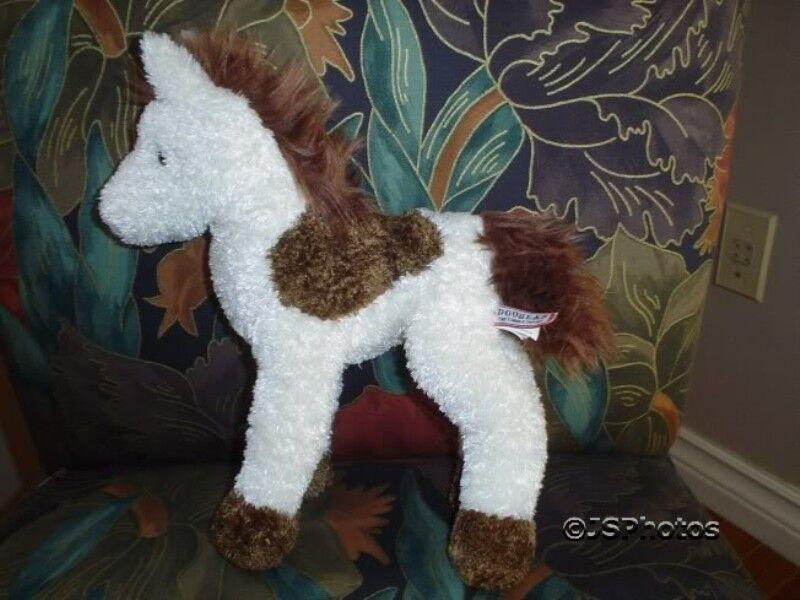 Douglas Pony Horse Plush Toy 10 Inch bianca & marrone