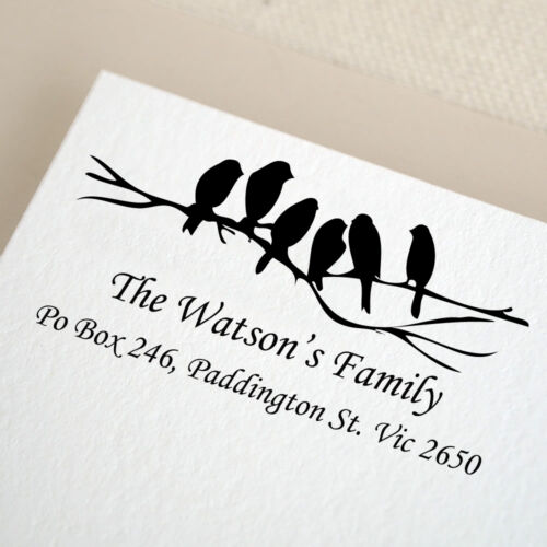 Personalized Custom Made Greeting Card Gift Card Mounted Rubber Stamp RE553