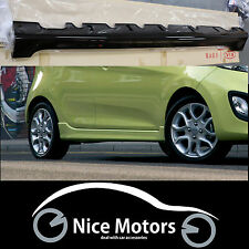 Genuine Painted Side Skirt Body Kit 2EA 1SET For KIA Picanto 2011 2012 2013 2014