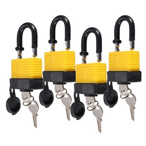 4 Vorhängeschlösser Wasserdichte Bügelschloss Zahlenschloss mit 8 schlüssel 40mm