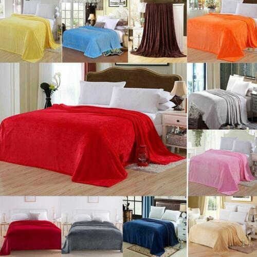 Mink Flannel Blanket Soft Polyester Plush Warm Bed Sofa Throw Blanket O5Z7