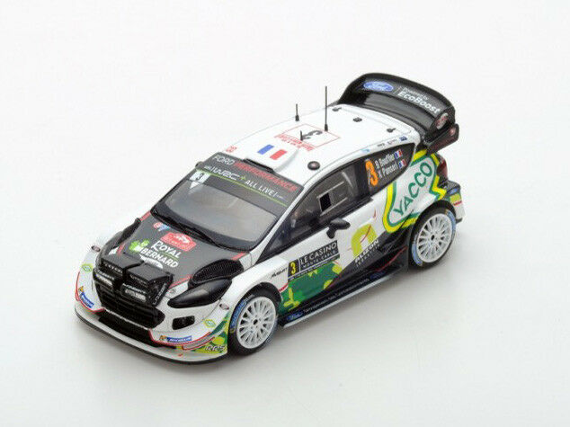 Spark Model 1 43 s5953 Ford Fiesta WRC Rally Montecarlo 2018 Bouffier NEW
