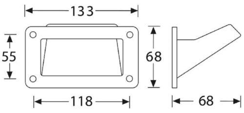 2x Griffschale Schalengriff 133 x 68 mm Tragegriff Boxengriff Kistengriff Griff