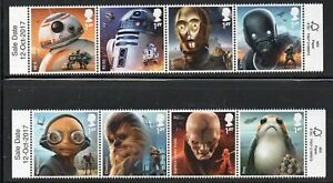 Great-Britain-Sc-3656-63-2017-Star-Wars-Droids-stamp-set-mint-NH-Free-Shipping