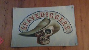 STONE MOVIE MERCHANDISE GRAVEDIGGERS MC cooler & stiker poster sign VINYL PRINT