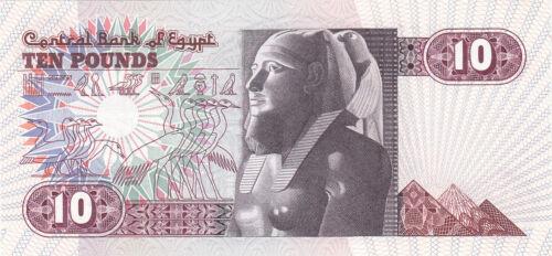 EGYPT 10 EGP 1985 P-51 SIG//NEGM#17 AU-UNC *//*