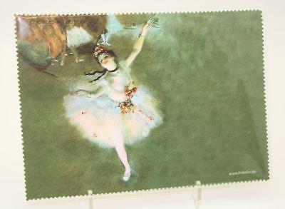 Occhiali Intonaco Panno/microfaseruch/pulizia Panno Edgar Degas * La Star Danza Classica-h / Microfaseruch / Reinigungstuch Edgar Degas * Der Star Ballett It-it E La Digestione Aiuta