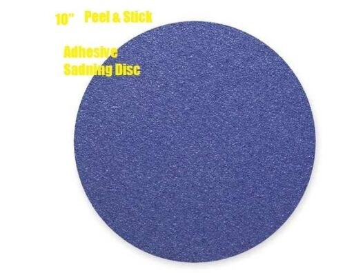 "10-PSA Sanding Discs 10/"" A//Z X 60 Grit X BLUE Alumina Zirconia Backing Weight"