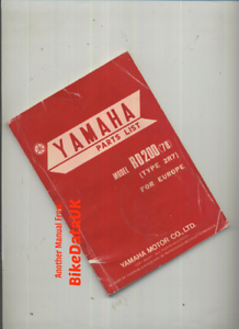 Yamaha-RD200DX-1978-gt-gt-Genuine-Parts-List-Catalogue-Manual-Book-RD-200-DX-BY43