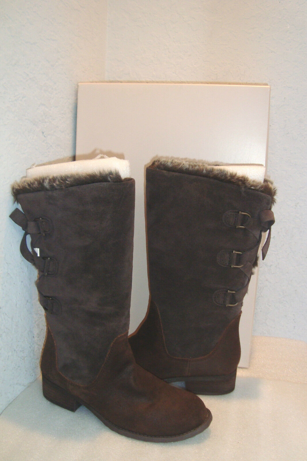 BCBGeneration BCBG Womens NWB Miana Glaze Brown Boots Shoes 7 MED NEW