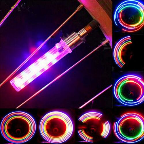 2 X 5 LED Flash Light Bicycle Motorcycle Car Bike Tyre Tire Wheel Valve Lamp New