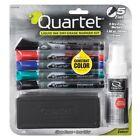 Quartet Dry Erase Markers Accessory Kit, Fine Tip, Endura, Assorted Colors, 5-Pk