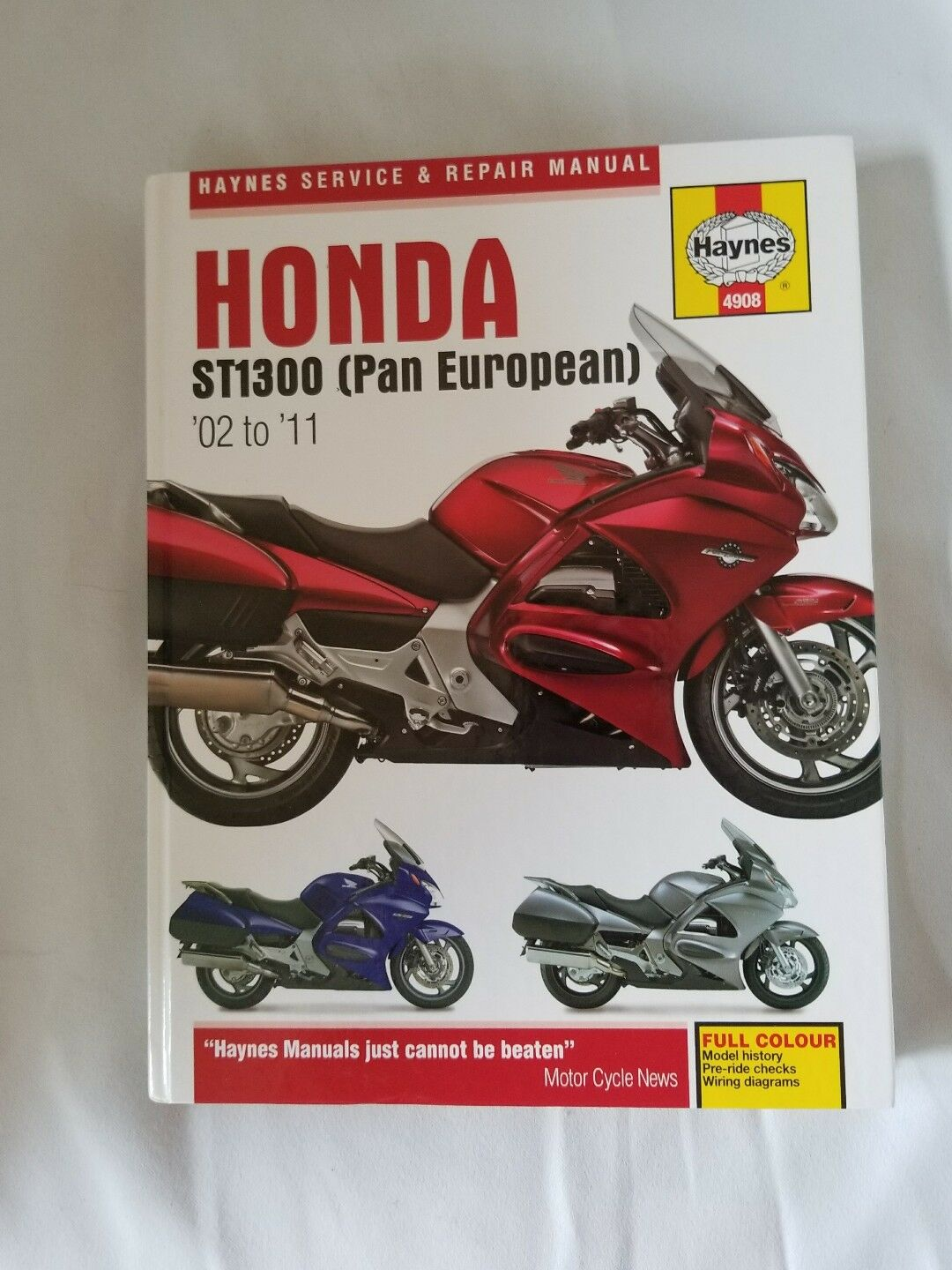 Haynes 2002-2011 Honda St1300 Owners Maintenance Repair Service Shop Manual  | eBay