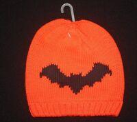 Baby Gap Infant Boys Halloween Cotton Hat - Orange/black Bat - Size 0-6 Mos