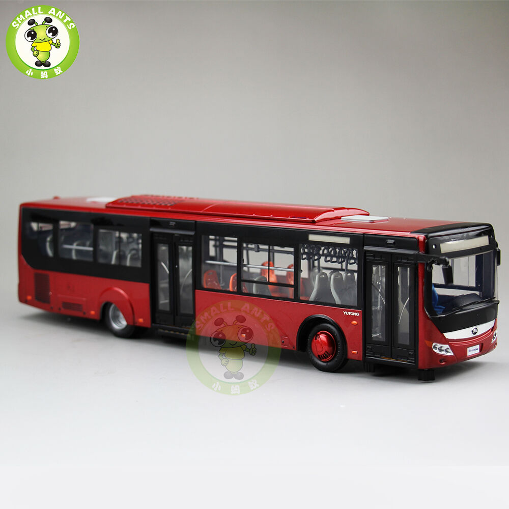 1 43 YuTong City Bus Model ZK6128HGK Diecast Model Car Bus gift collection