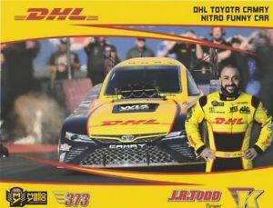 2018 J R Todd Dhl Toyota Camry Funny Car Nhra Postcard Ebay