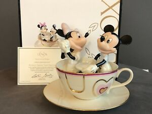 2abbbfc54c4d Image is loading Lenox-Disney-MICKEYS-TEACUP-TWIRL-Porcelain-Figurine-Mickey -