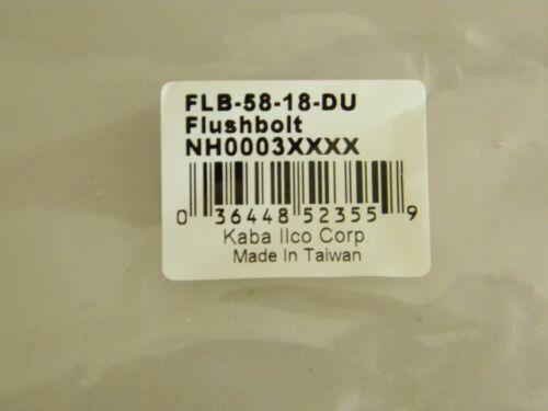 Kaba Ilco Flush Bolt For Commercial Aluminum Double Doors Oil Rubbed Bronze