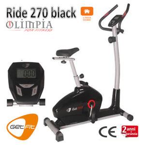 GetFIT-Cyclette-MAGNETICA-RIDE-270-BLACK-Accesso-facilitato-ROTELLE-LCD