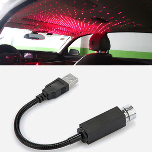 Car Ceiling USB Star Sky Projection Lamp Romantic Galaxy Lighting Decoration