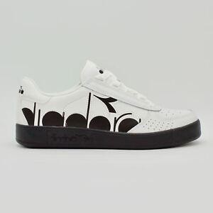 Diadora-B-Elite-Bolder-Bianche-logo-nero-sneakers-uomo-logo-laterale-nuova