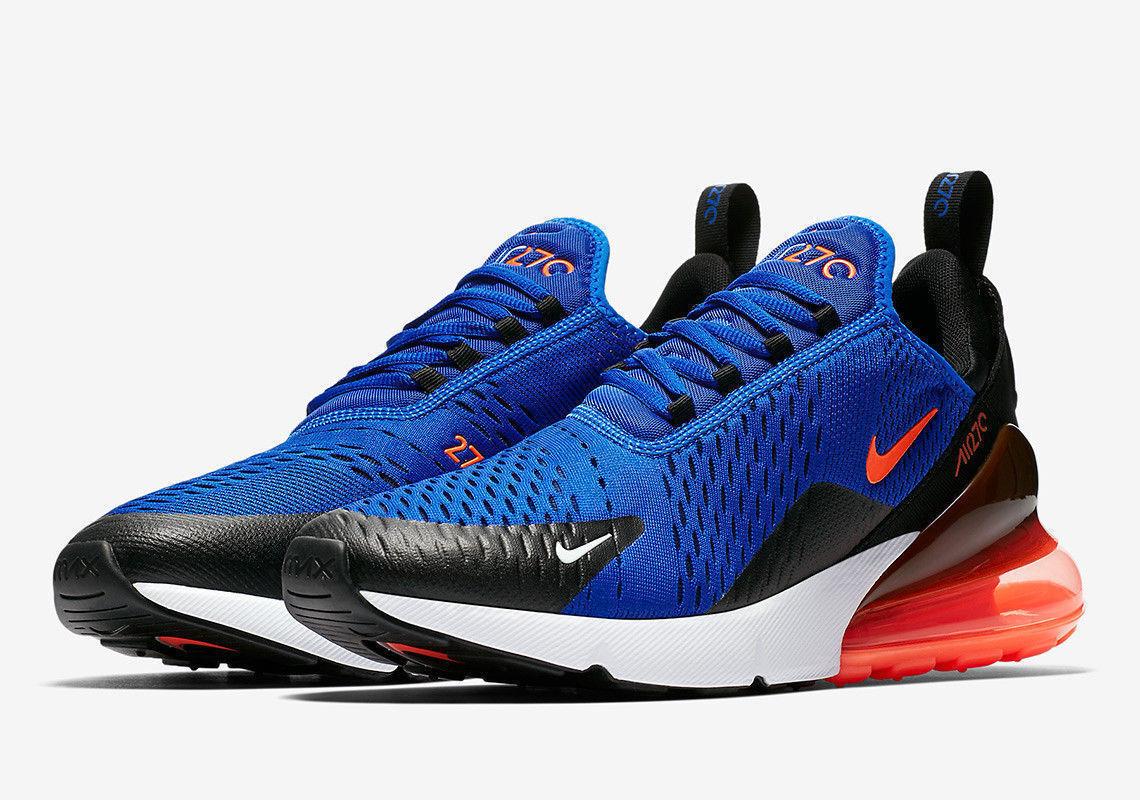 e6eacb9a96cf8 Nike Air Max 270 Racer bluee Size 9.5-10 Hyper Crimson Black AH8050-401