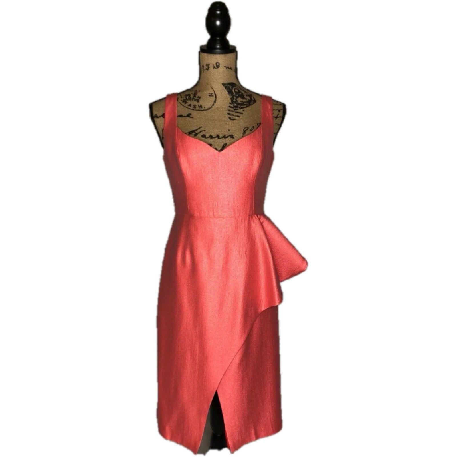 schwarz Halo Eve By Laurel Berman damen Größe 6 Coral Sheath Sleeveless Dress