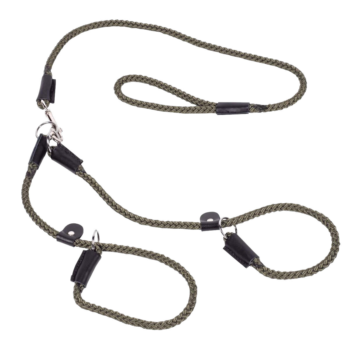 Double Gun Hunting Dog Puppy Walking Training Rope Slip Lead by Bisley