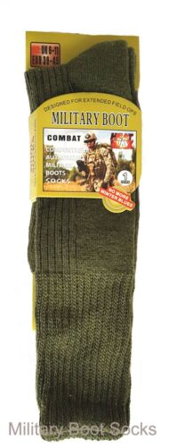 Botas para Hombre Largo Calcetines de militar de invierno térmica máx tamaño cómodo 6-11