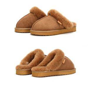 AUSTRALIAN-SHEEPSKIN-MOCCASIN-NAPPA-SLIPPERS-GENUINE-For-Women