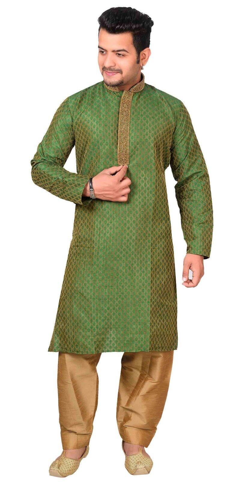 Mens Kurta Pyjama Shalwar Kameez Wedding Sherwani Bollywood Theme Party 1839 UK